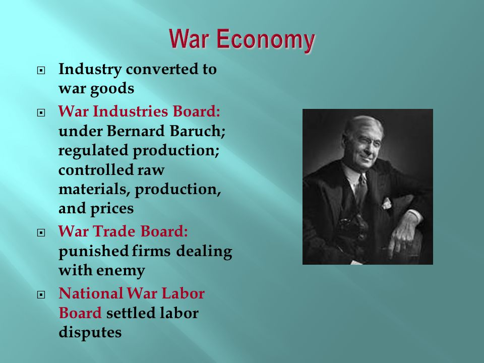 War Economy Industry converted to war goods