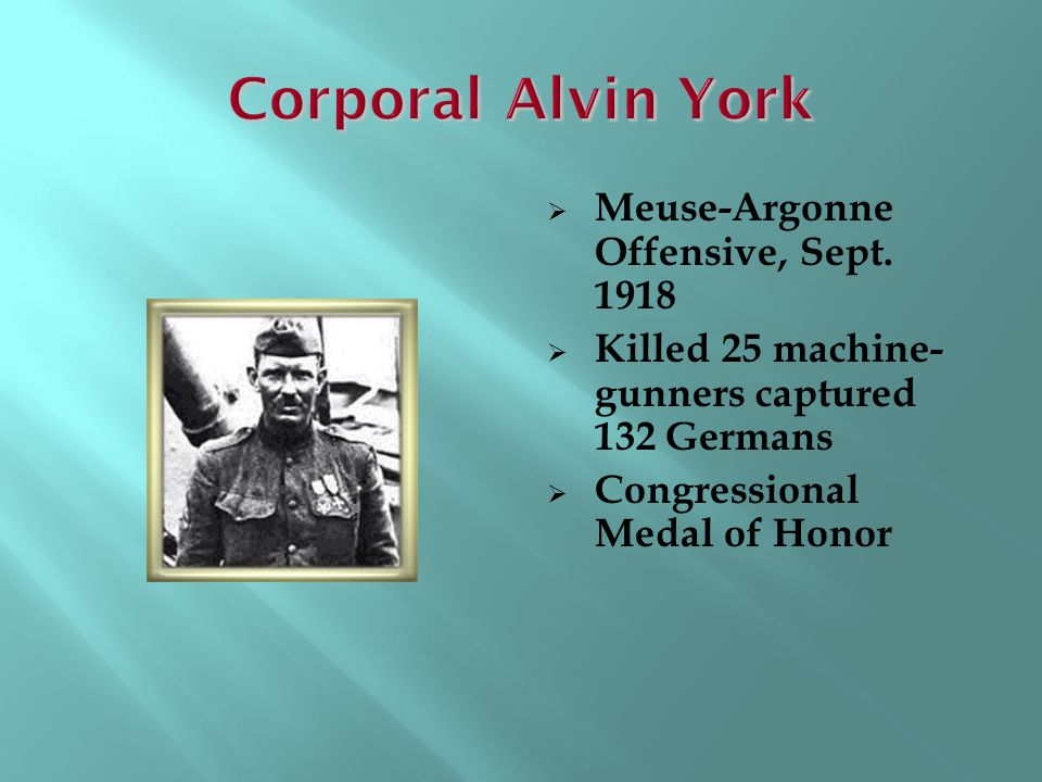 Corporal Alvin York Meuse-Argonne Offensive, Sept. 1918