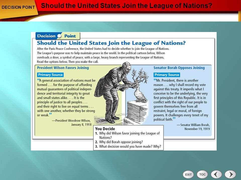 Should the United States Join the League of Nations