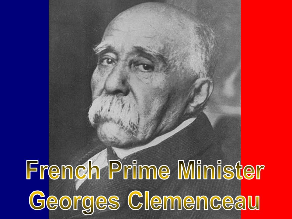 French Prime Minister Georges Clemenceau