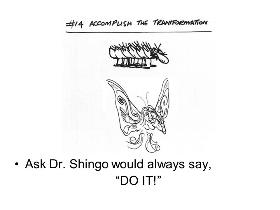 Ask Dr. Shingo would always say,