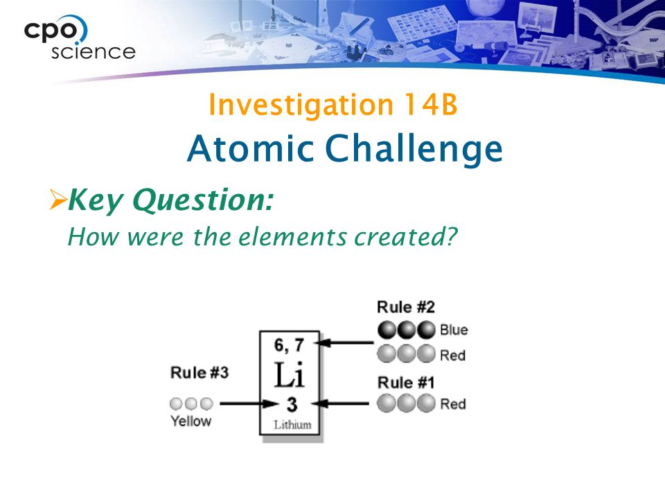 Atomic Challenge Investigation 14B Key Question: