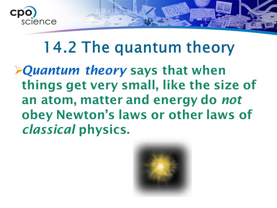 14.2 The quantum theory