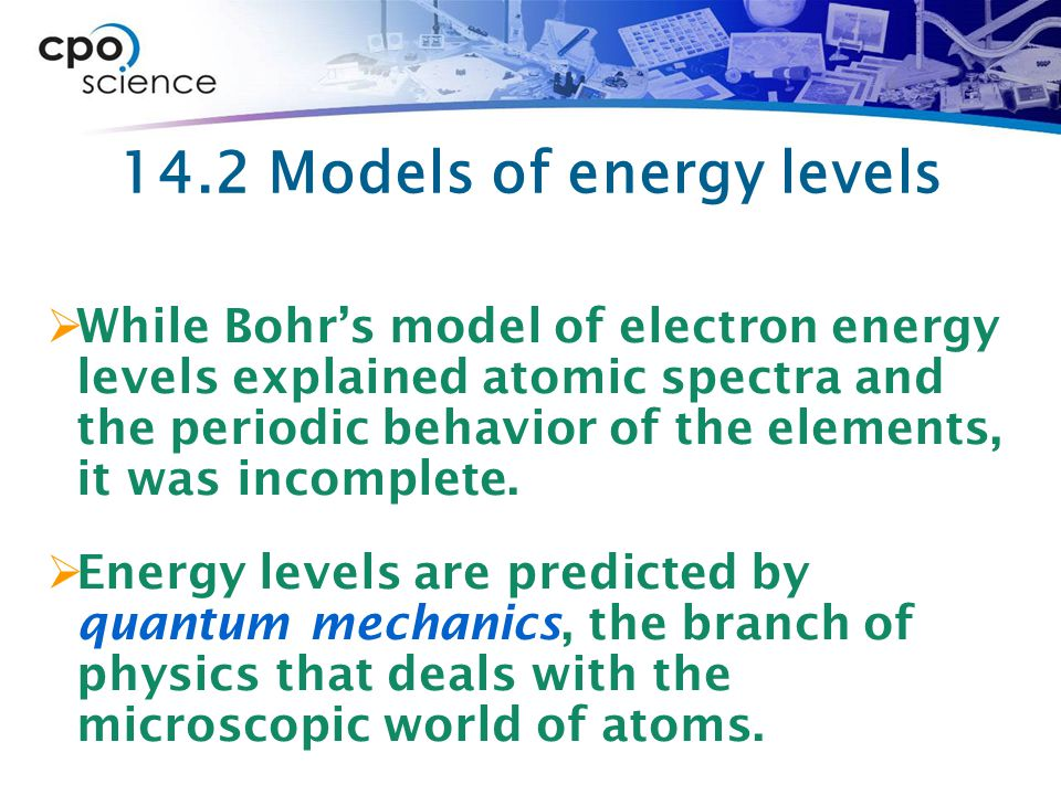 14.2 Models of energy levels