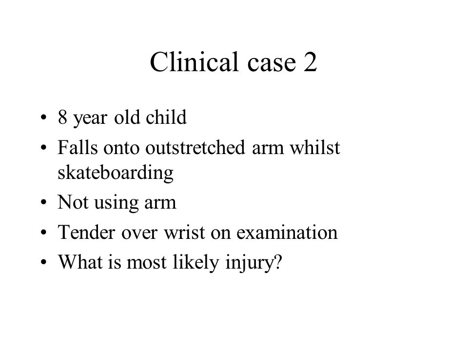 Clinical case 2 8 year old child
