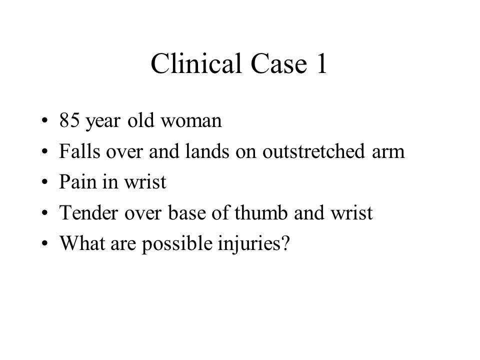 Clinical Case 1 85 year old woman