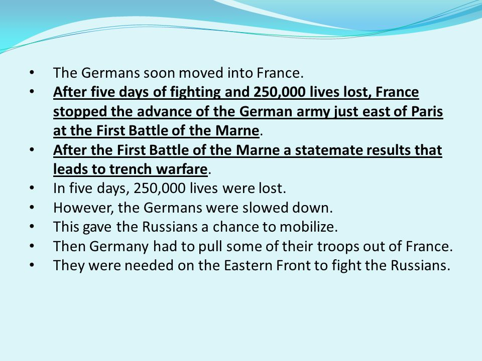 The Germans soon moved into France.