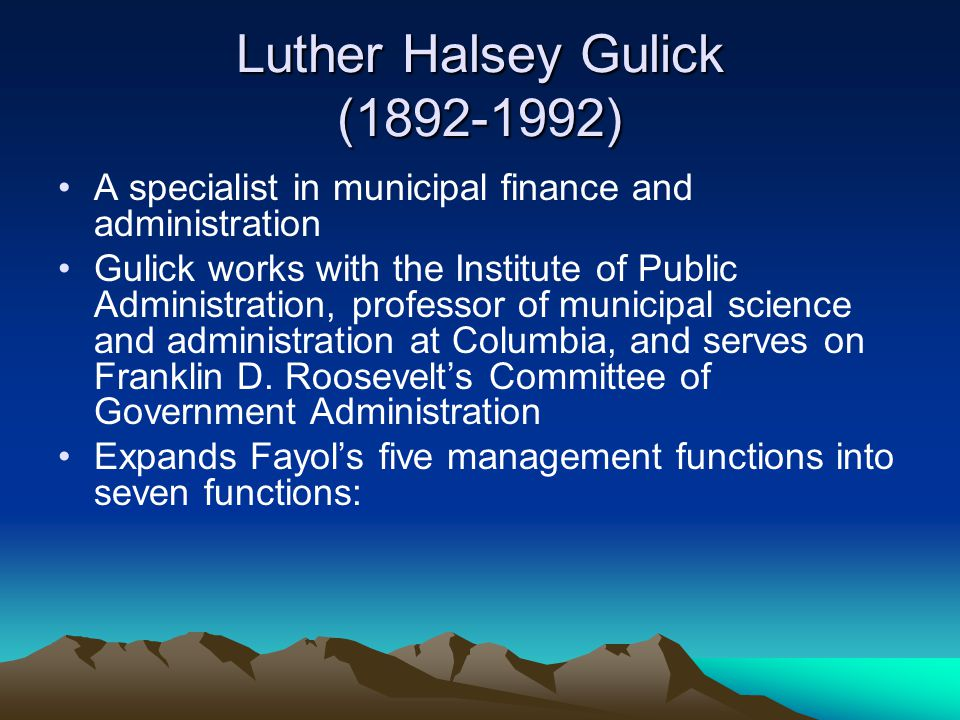 Luther Halsey Gulick (1892-1992)