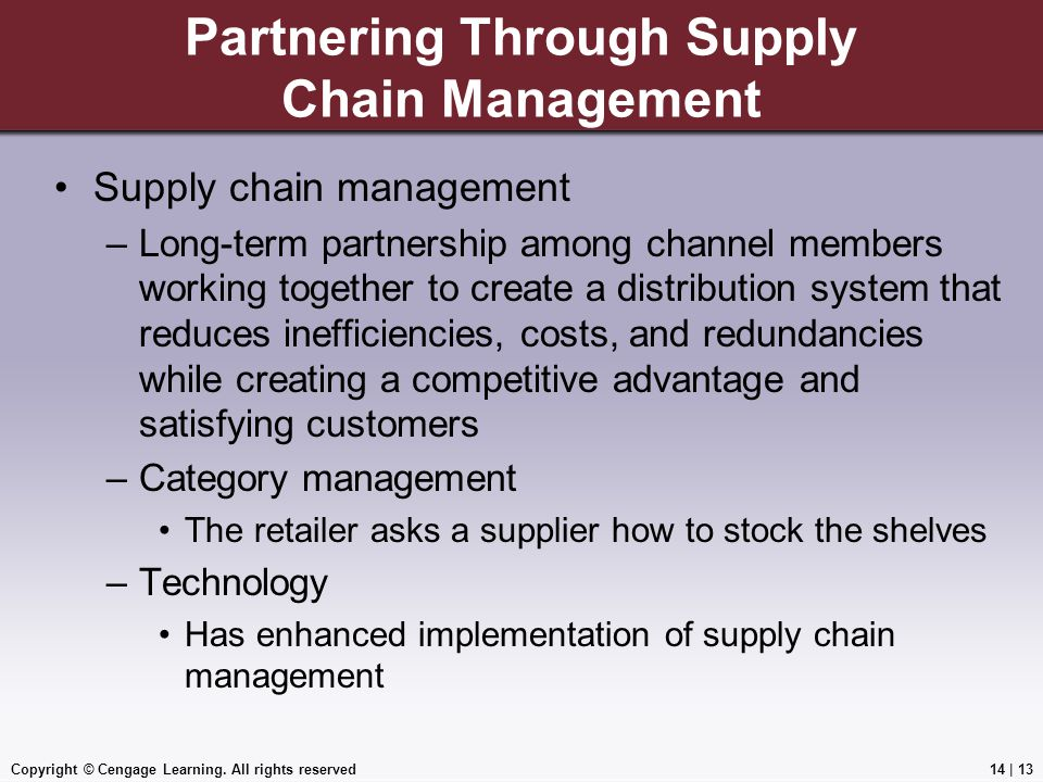 Partnering Through Supply Chain Management