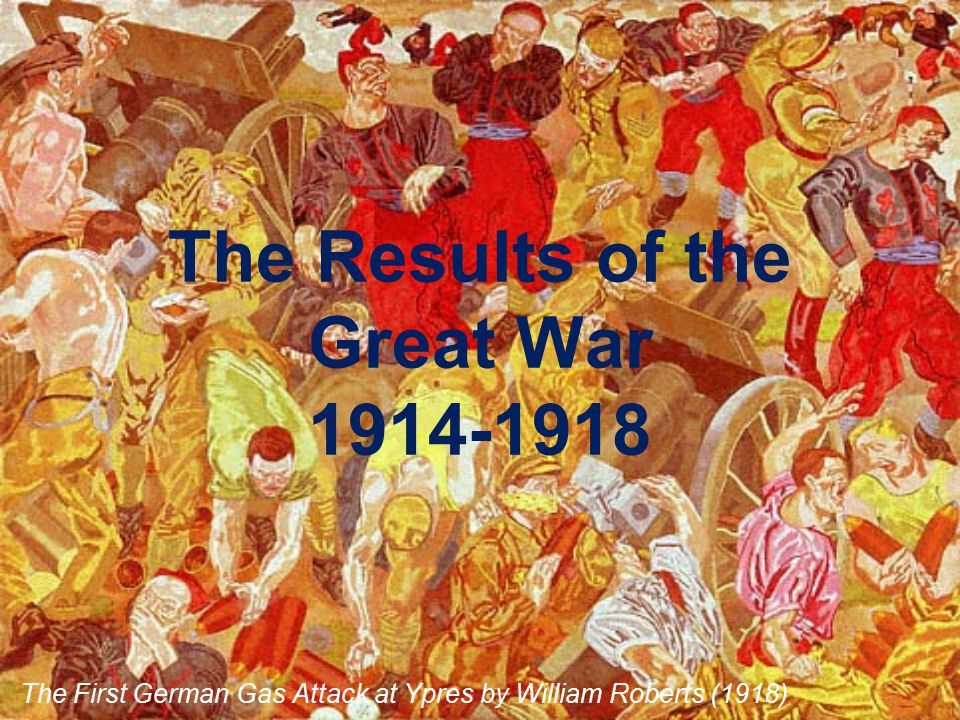 The Results of the Great War 1914-1918