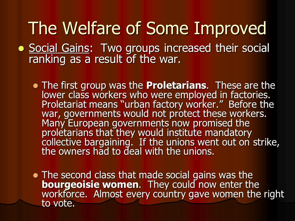 The Welfare of Some Improved
