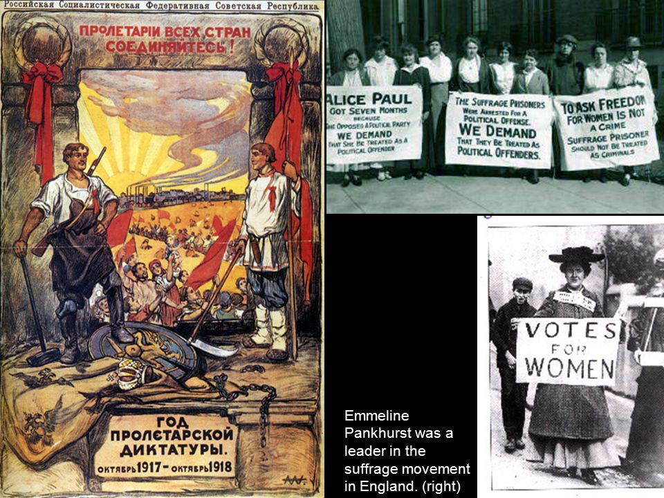 Emmeline Pankhurst was a leader in the suffrage movement in England