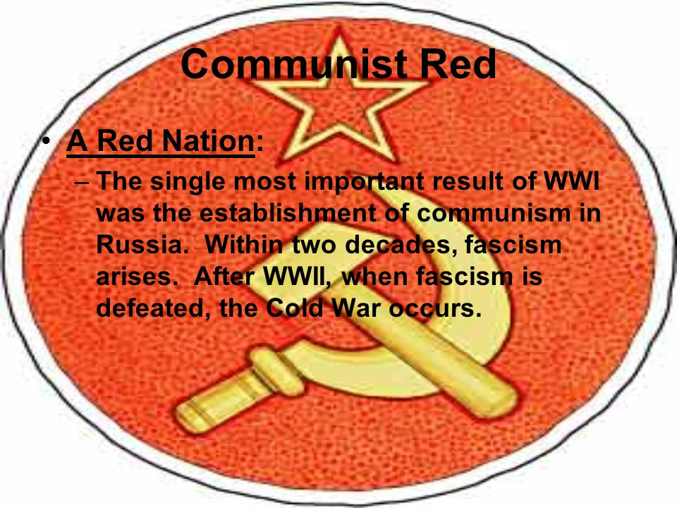 Communist Red A Red Nation: