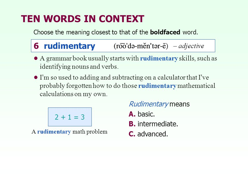 A rudimentary math problem
