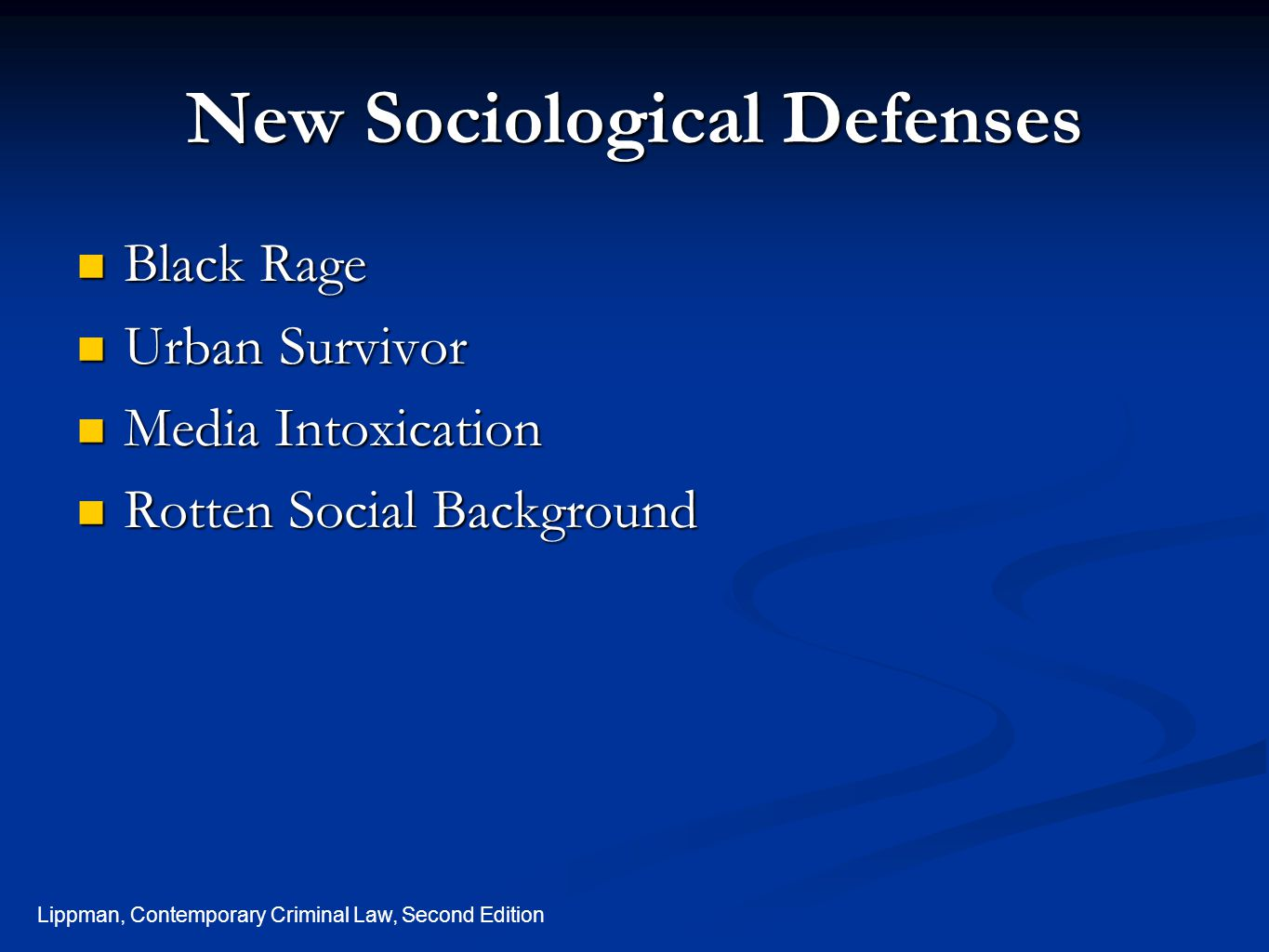 New Sociological Defenses