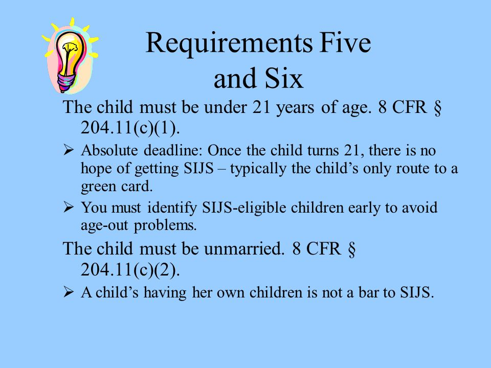 Requirements Five and Six