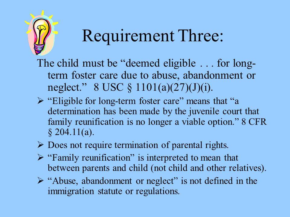 Requirement Three: