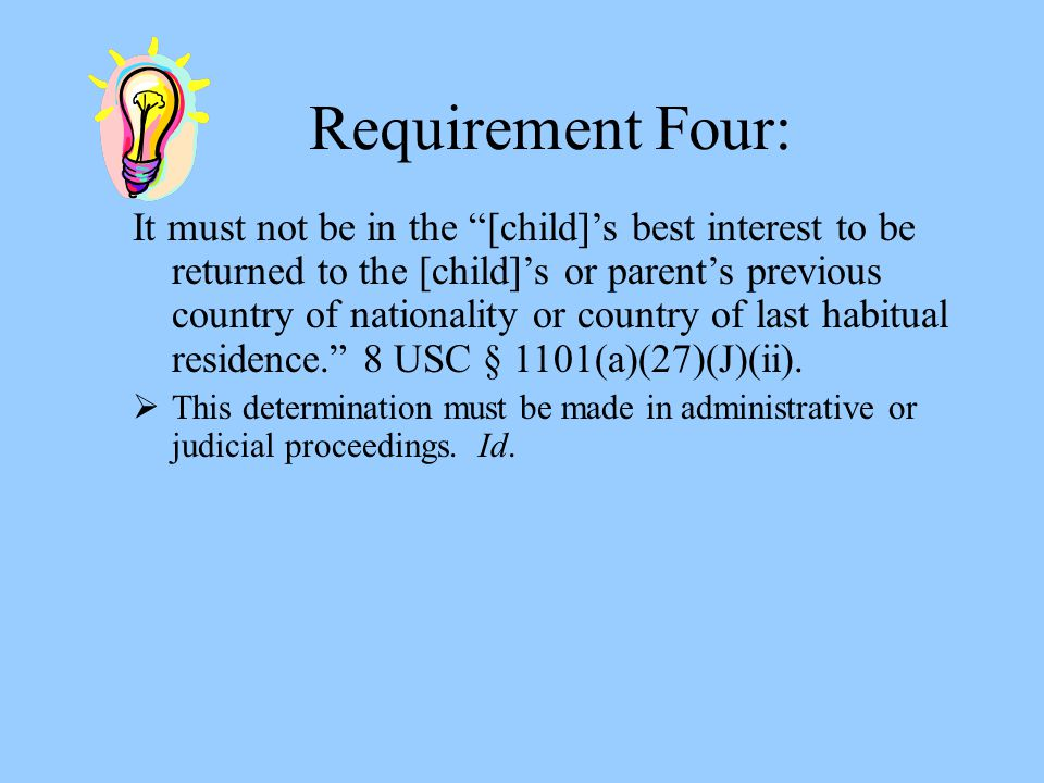 Requirement Four: