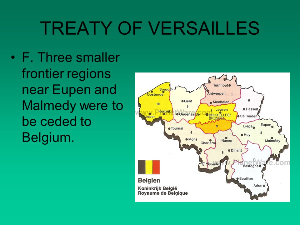 TREATY OF VERSAILLES F.