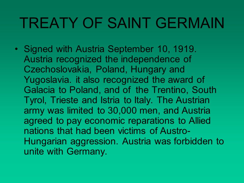 TREATY OF SAINT GERMAIN