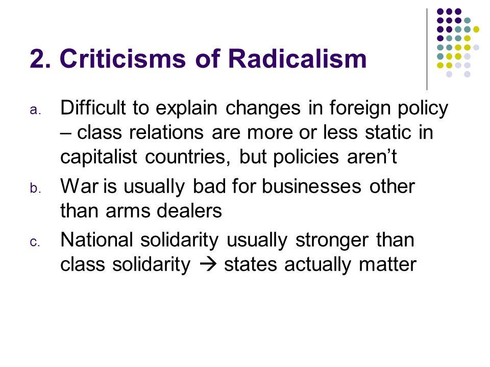 2. Criticisms of Radicalism