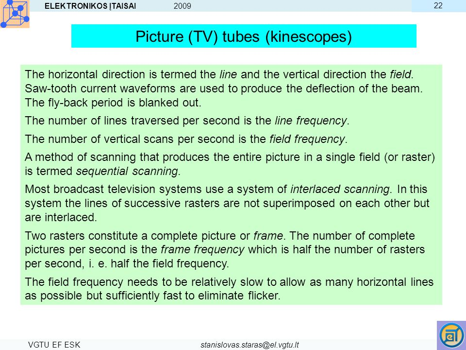 Picture (TV) tubes (kinescopes)
