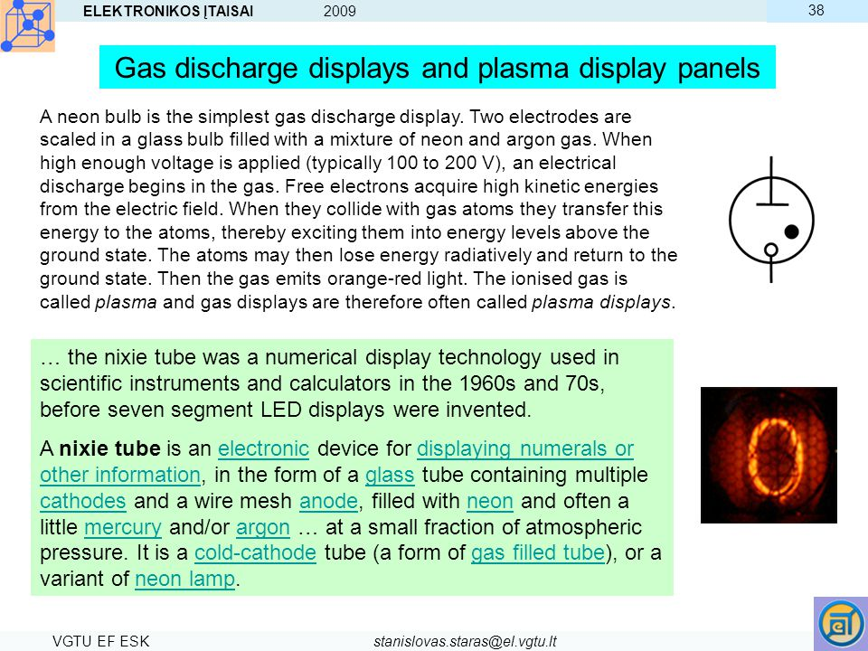 Gas discharge displays and plasma display panels