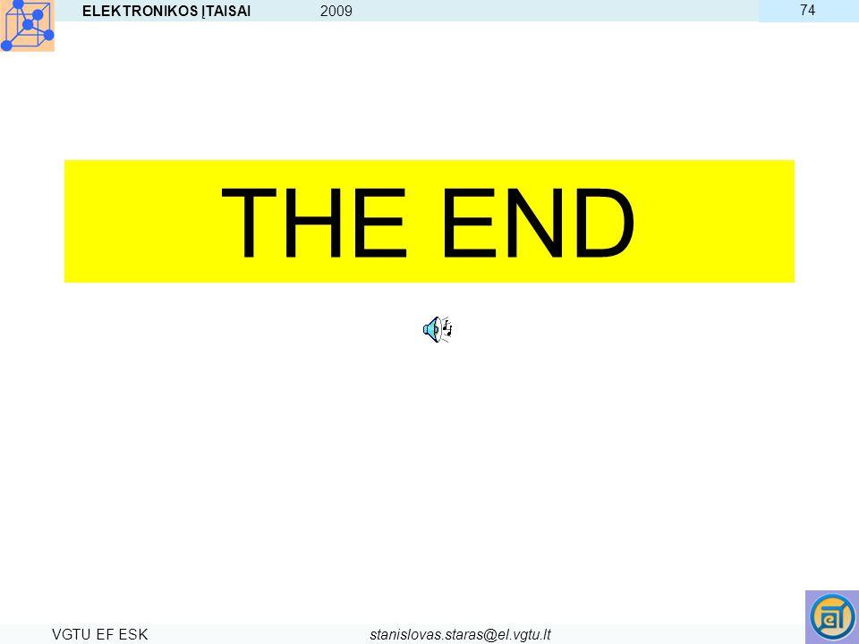 THE END ELEKTRONIKOS ĮTAISAI 2009 74 VGTU EF ESK