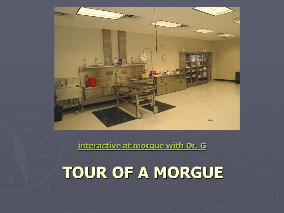 interactive at morgue with Dr. G