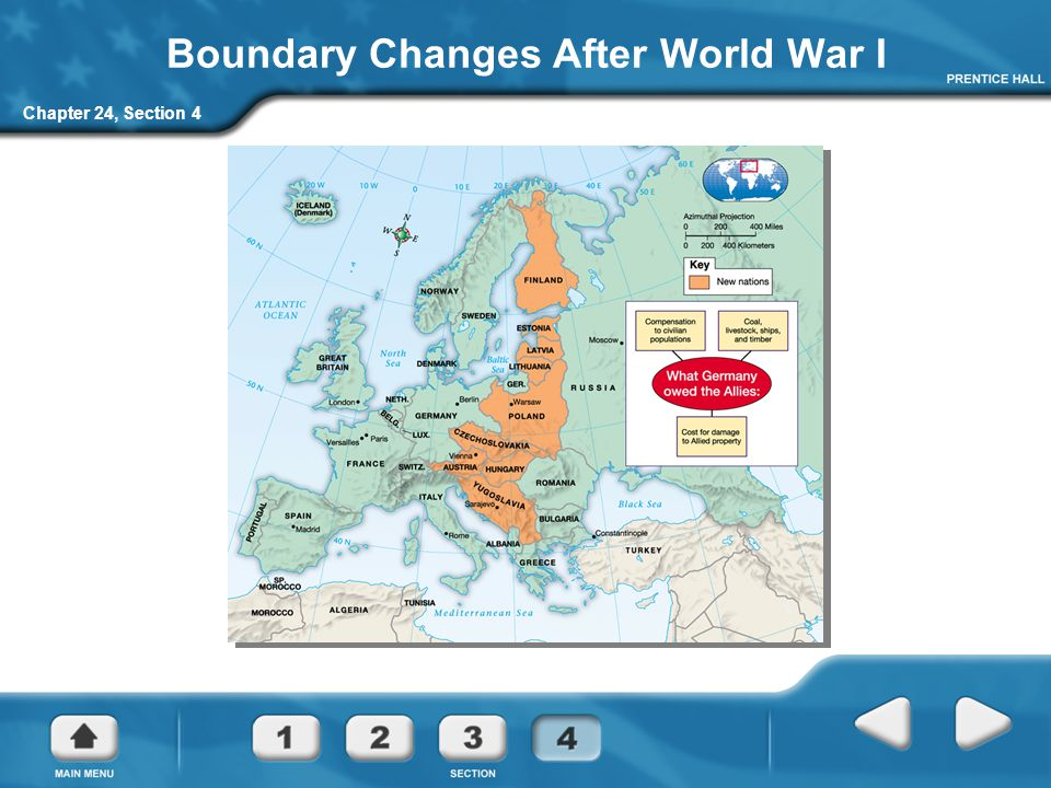 Boundary Changes After World War I