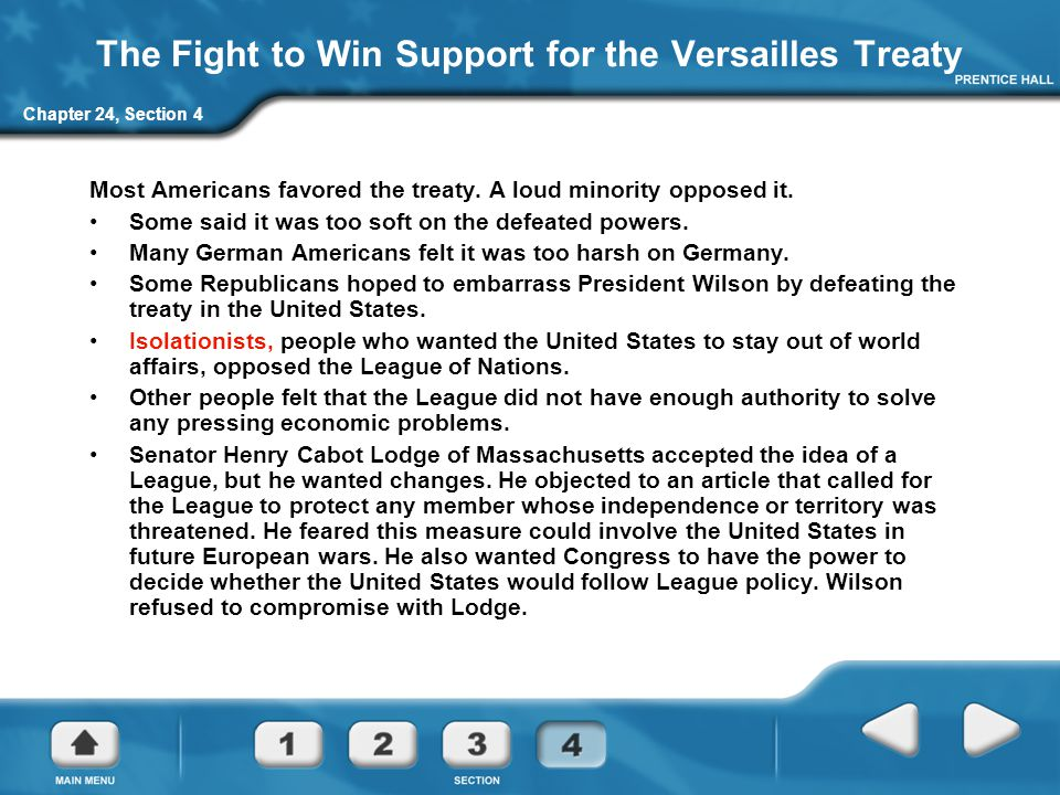 The Fight to Win Support for the Versailles Treaty
