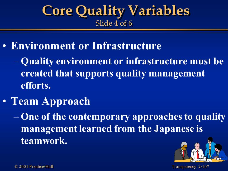Core Quality Variables Slide 4 of 6