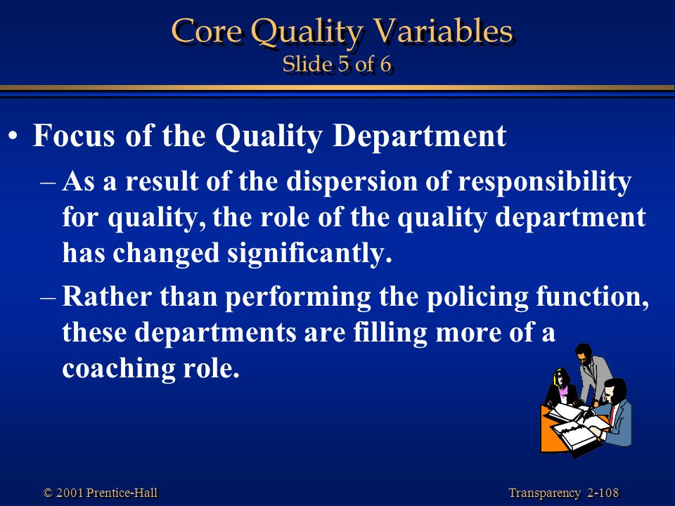 Core Quality Variables Slide 5 of 6