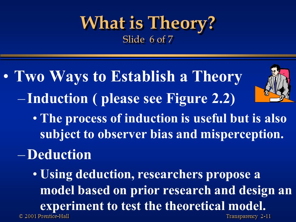 What is Theory Slide 6 of 7 Two Ways to Establish a Theory