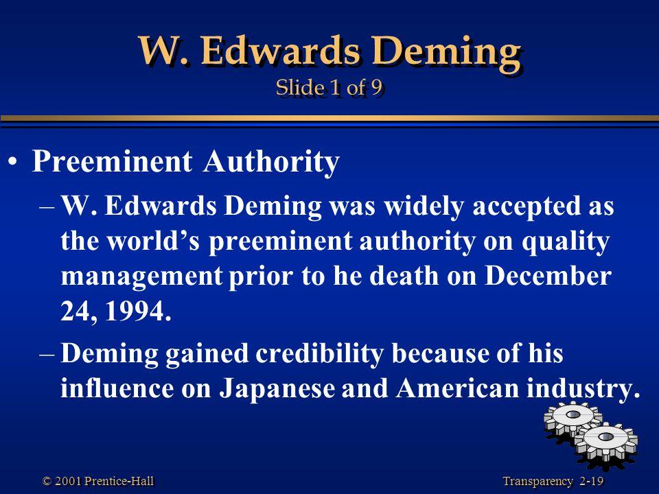 W. Edwards Deming Slide 1 of 9