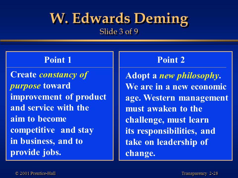 W. Edwards Deming Slide 3 of 9