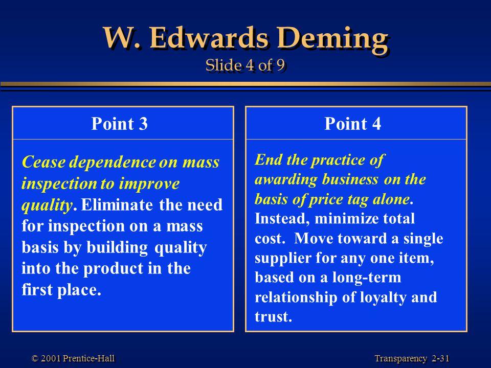 W. Edwards Deming Slide 4 of 9