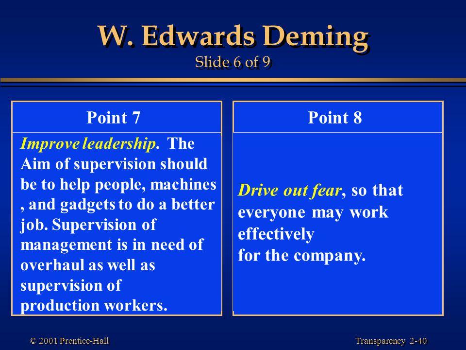 W. Edwards Deming Slide 6 of 9