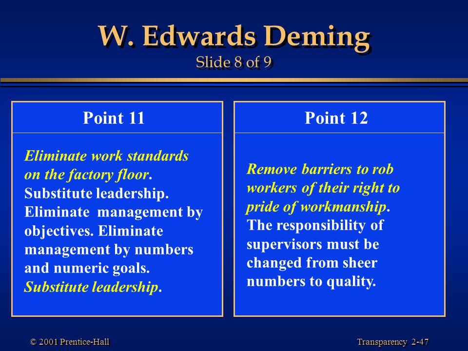 W. Edwards Deming Slide 8 of 9