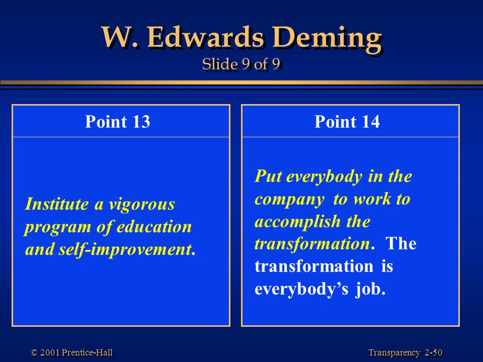 W. Edwards Deming Slide 9 of 9
