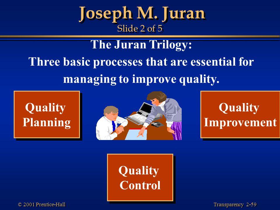 Joseph M. Juran Slide 2 of 5 The Juran Trilogy: