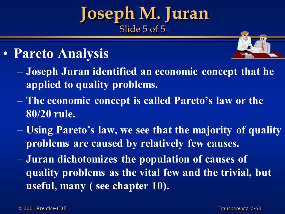 Joseph M. Juran Slide 5 of 5 Pareto Analysis