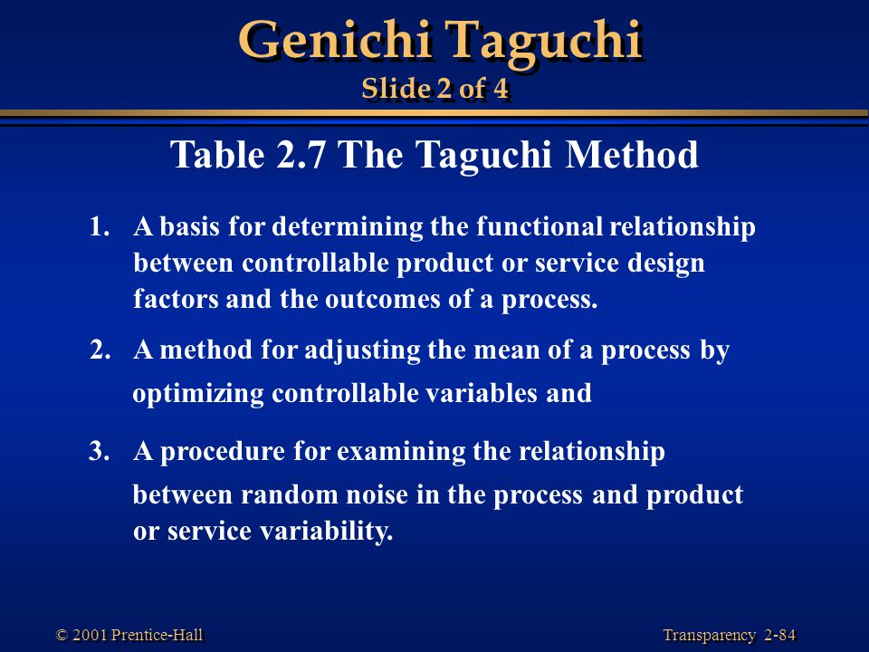 Genichi Taguchi Slide 2 of 4