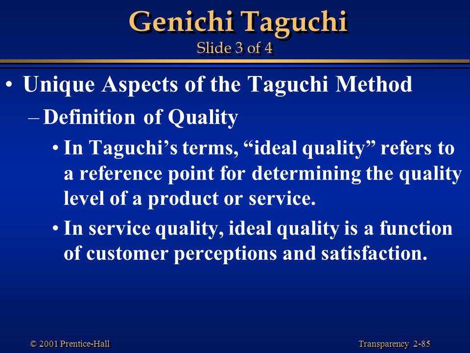 Genichi Taguchi Slide 3 of 4
