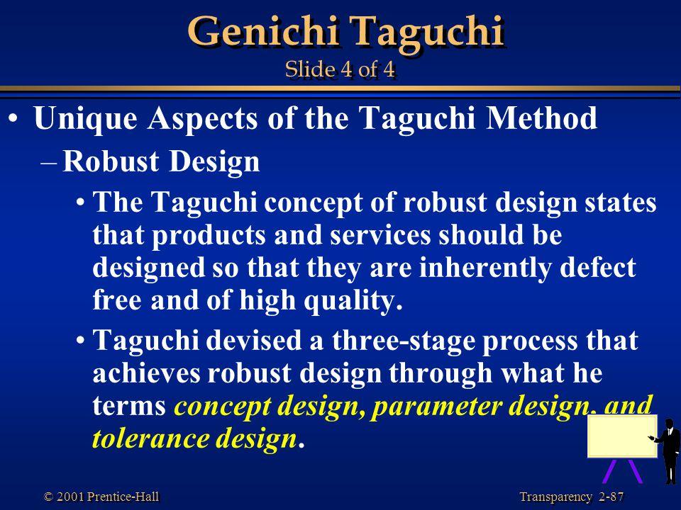 Genichi Taguchi Slide 4 of 4