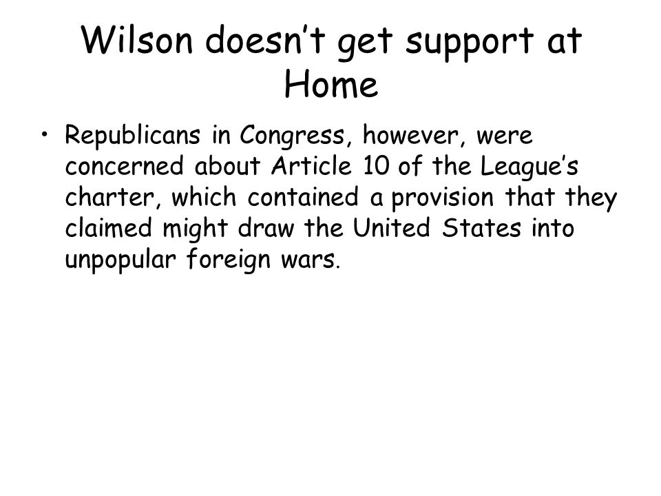 Wilson doesn't get support at Home