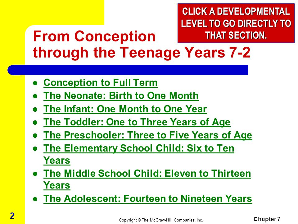 From Conception through the Teenage Years 7-2