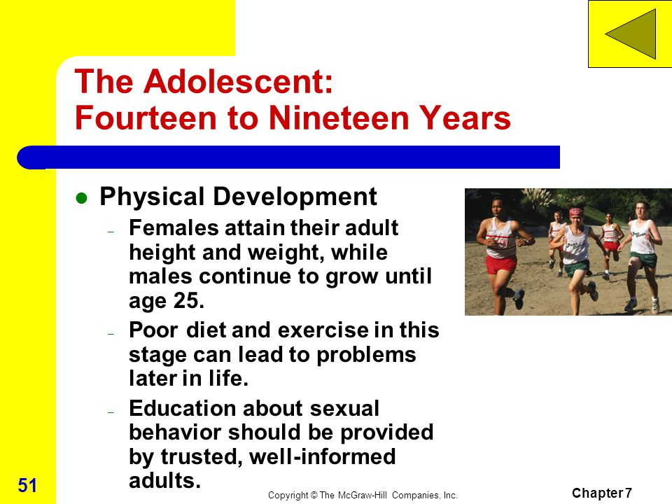 The Adolescent: Fourteen to Nineteen Years