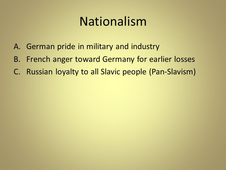 Nationalism German pride in military and industry