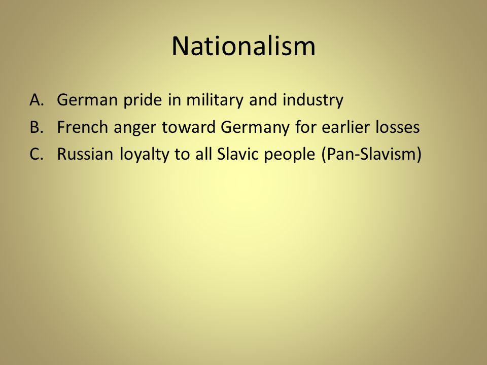 Nationalism German pride in military and industry